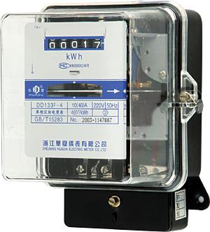 单相电度表 DD133F-4