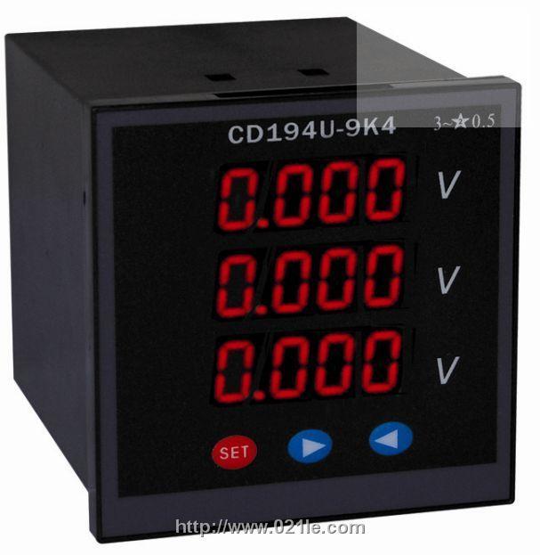 PZ194U-1X5 三相交流电压表